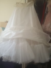 White Hoop slip for prom or wedding gown Brownstown Charter Township