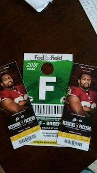 Redskins tickets lower level Alexandria, 22314