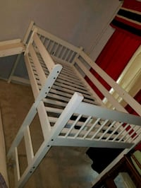 White bunk bed with slide  Clearwater, 33759