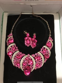 silver and pink beaded necklace Mississauga, L5G