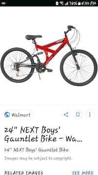 "24""next gauntlet mountain bike  Alexandria, 22306"