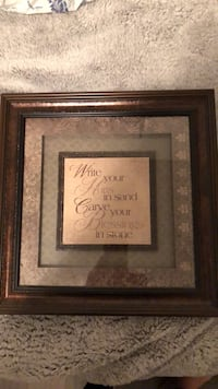 brown wooden framed wall decor Youngsville, 70592