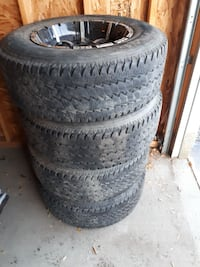 17x9 inch rims with tires