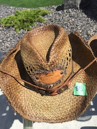 Used Kathy jeanie straw cowboy hat for sale in Calgary - letgo da1f582352f3