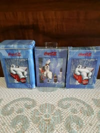 Coca-Cola tin with two complete decks of cards. Whitby, L1P 1A1