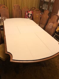 oval white wooden dining table Ocoee, 34761