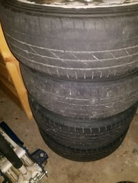 2003 wj 4 wheel and tire set plus spare