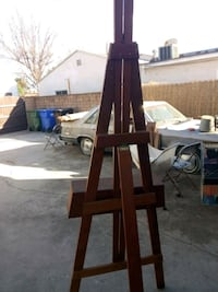 brown wooden easel stand