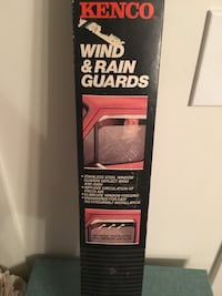 Metal rain and wind guards