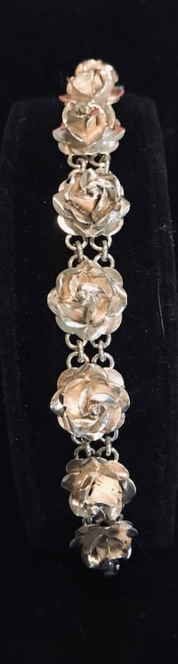 Sterling silver 3-d rose bracelet from Mexico Silver Spring, 20904