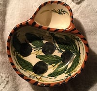 Vintage Native American Hand painted Double Bowl or Dish Windcrest, 78239
