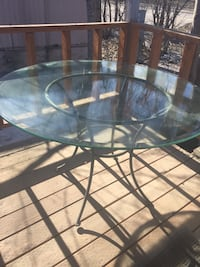 Metal & Glass out doors round table