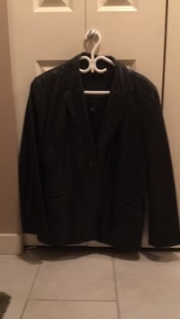 Black leather Danier coat.. Langley, V3A 9J6