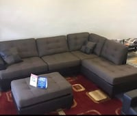 Brand new brown linen sectional sofa with ottoman  Silver Spring, 20902