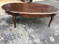 oval brown wooden coffee table Vaughan, L4L 4E7