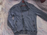 Brand New Calvin Klein Cotton Vintage Biker Style Zipper Jacket - Size Large Winnipeg