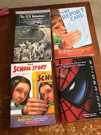 $3 only for all 4 school aged books see pics burnaby pick up outside