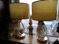 two brown table lamps with white lampshades Pelham, L0S 1E0