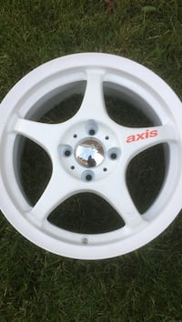 white and chrome Axis 5-spokes rim Toronto, M3A 1L8