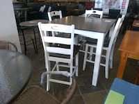 Brown white wooden dining table with 4 Chairs sale Phoenix, 85018