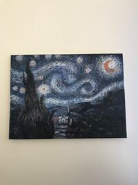 Van Goghs Starry Night  12x16  painting /reproduction Manchester, 08759