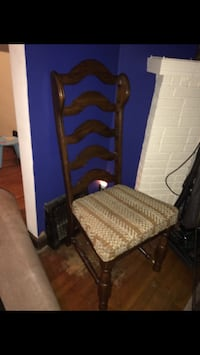 Hardwood chair with cushion seat (2 are available)