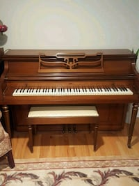 brown and white upright piano Centereach, 11720
