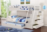 Twin/Full Bunk Bed w/ Storage Staircase HUGE SALE!!! 3 colors available Essex