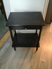 Solid wood end table with drawer 3155 km