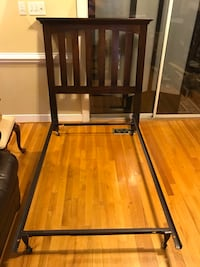 Solid wood  twin size headboard and metal bed frame Henrico, 23233
