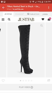 black leather knee-high boots Wilson, 27893