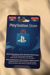 $20 PlayStation card