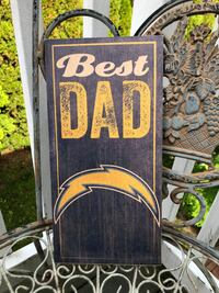 Cool Chargers offical NFL sign Best Dad