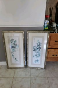 Framed, glass, bamboo wall hanging.  Newport News, 23608