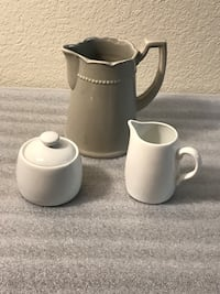 Small pitcher, sugar bowl and creamer Bakersfield, 93308