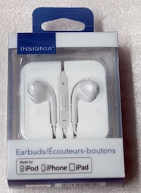 INSIGNIA WIRED 3.5MM IN-EAR SOUND ISOLATING EARBUDS WITH MIC - NS-CAHEP2-C