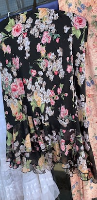 Black and pink floral long sleeve dress El Paso, 79924