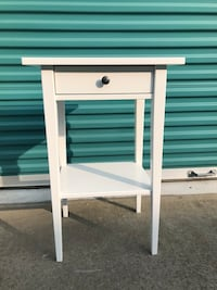 white wooden single-drawer end table 2388 mi