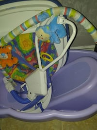 baby's white and blue swing chair Edmonton, T6B 0S5