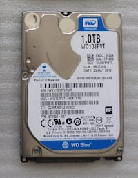 Western Digital 1TB WD10JPVT laptop hard diski