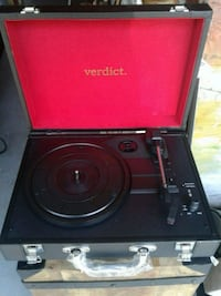 Verdict portable battery Bluetooth turntable new