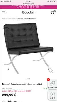 *NEGOCIABLE* Chaise noir style Danois  Pick up in st-michel