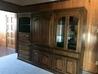brown wooden framed glass display cabinet Metairie, 70003