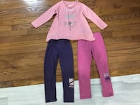 Infant girls top/leggings from Roots, leggings size 4, top is size 3, it is a loose fit Brampton, L6R