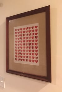 Framed Heart Print Art Decor