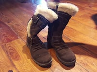 Brown Faux Suede Boots Size 6