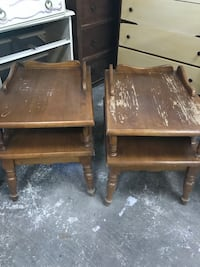 solid wood end tables project pieces Montgomery, 77316