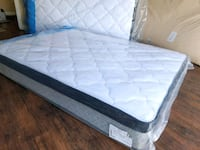 Organic new queen mattress europillowtop.  Deliver