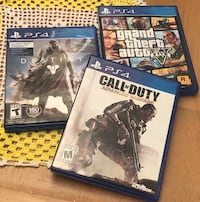 3 PS4 Games in Excellent Condition  Spokane, 99217