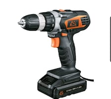 Cordless Drill, 20V Battery, Fast Charger, 18+1 TorqueNEW ½ PRICE